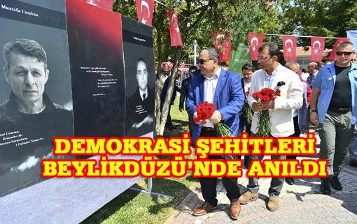 15 Temmuz Demokrasi Şehitleri Parkı'nda anma