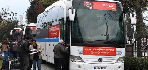 151 Suriyeli Esenyurt'tan memleketlerine dönüş için yola çıktı