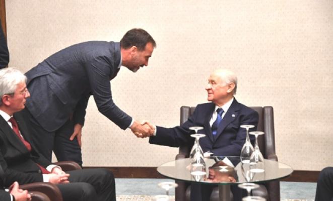 Başkan Yılmaz,  Bahçeli ile görüştü