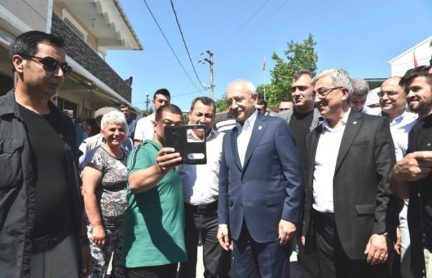 Kılıçdaroğlu Çatalca'da dağ bayır dolaştı
