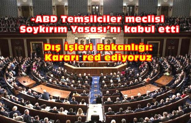 ABD'de Türkiye Karşıtı  tasarı kabul edildi