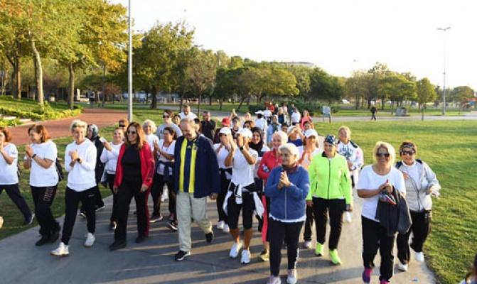 Başkan Hançerli vatandaşlarla spora çıktı