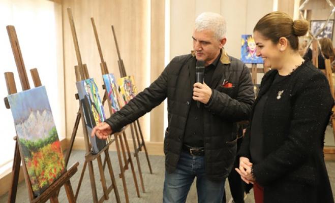 Büyükçekmece'de Ressam Aziz Başçı sergisi