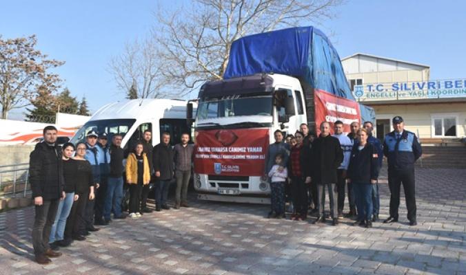 Silivri'den deprem bölgesine yardım