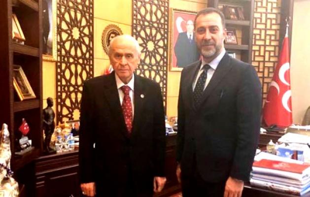 Başkan Yılmaz Bahçeli'yi ziyaret etti