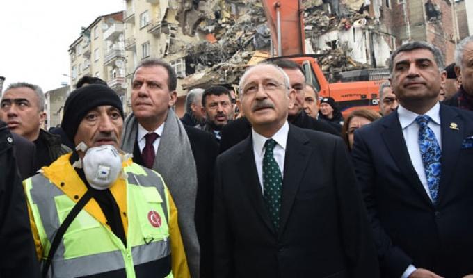 Kılıçdaroğlu deprem bölgesinde