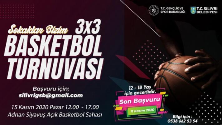 Silivri'de 3x3 basketbol turnuvası