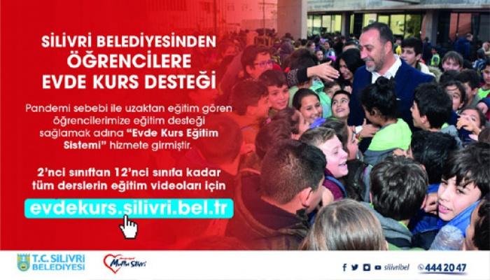 Silivri'de öğrencilere kurs desteği
