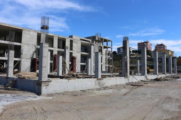 Serik Kültür Merkezi inşaatı hızla sürüyor