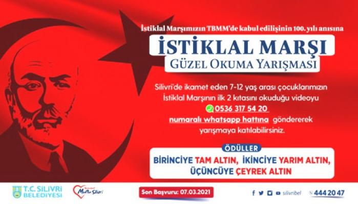 Silivri'de İstiklal Marşı yarışması