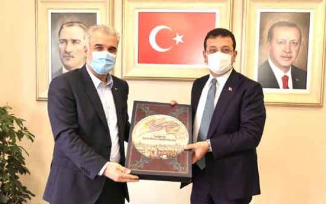 İmamoğlu'ndan Kabaktepe'ye ziyaret