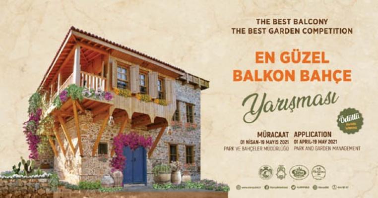 Alanya'nın en güzel balkon bahçesi seçiliyor