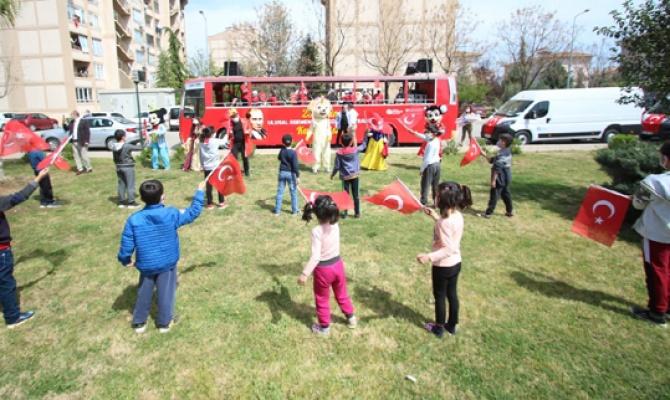 Antalya'da 23 Nisan coşkusu