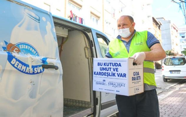 Esenyurt Belediyesi'nden ramazan yardımları