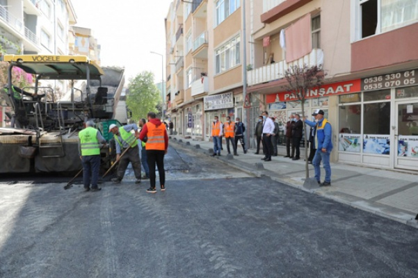 Alibey Mahallesi'nde asfaltlama