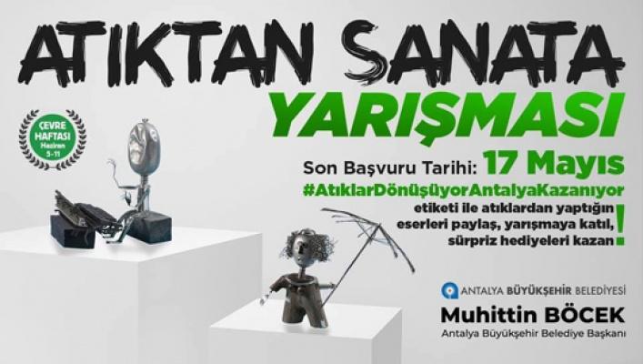 Antalya'da atıklar sanata dönüşüyor