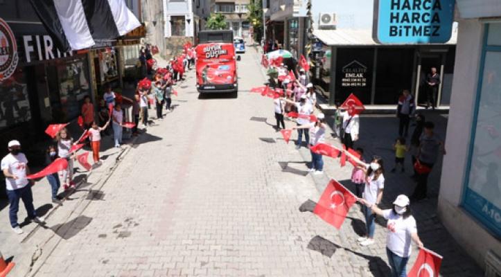 Büyükçekmece'de 19 Mayıs coşkusu sokaklara taştı