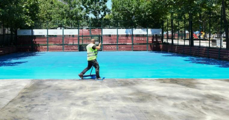 Esenyurt Belediyesi spor parkı'nı yeniledi