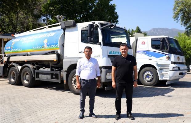 Kuraklıkla boğuşan çiftçiye tankerli destek