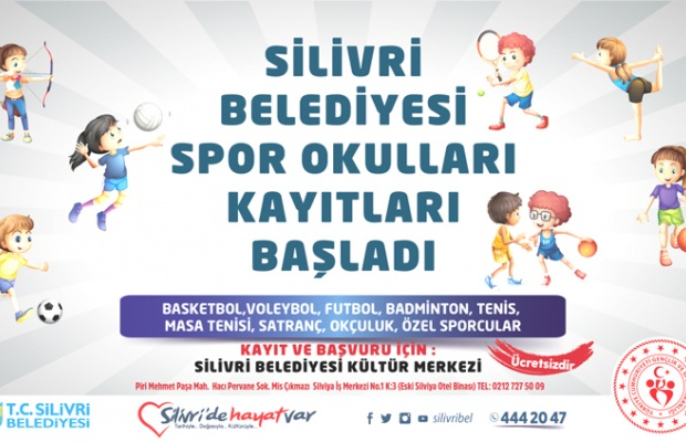 Silivri'de spor okulları kayıtları başladı