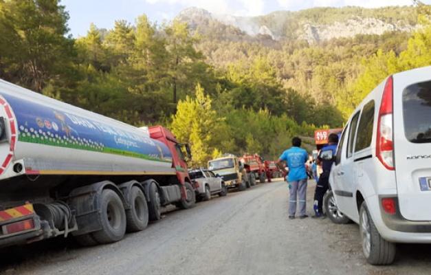 Alanya'da yangına anında müdahale