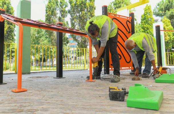 Esenyurt'ta RTE Parkına yeni spor alanı