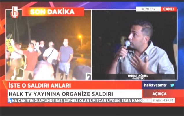 Halk Tv canlı yayınını bastılar