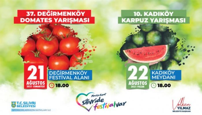 Silivri'de Domates Karpuz Festivali
