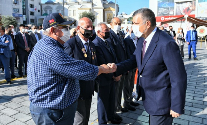Başkan Bozkurt Gaziler Günü töreninde