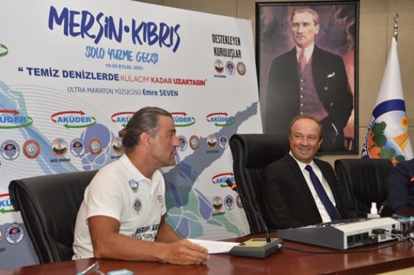 Mersin'den-Kıbrıs'a yüzecek