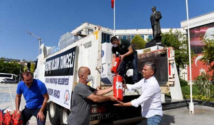 Muratpaşa'dan Tunceli'ye destek