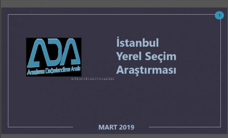 ADA'dan İstanbul ve 39 ilçesi için yerel seçim anketi