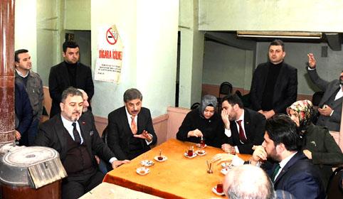 AK Parti'den Esenyurtlu esnafa tam kadro ziyaret