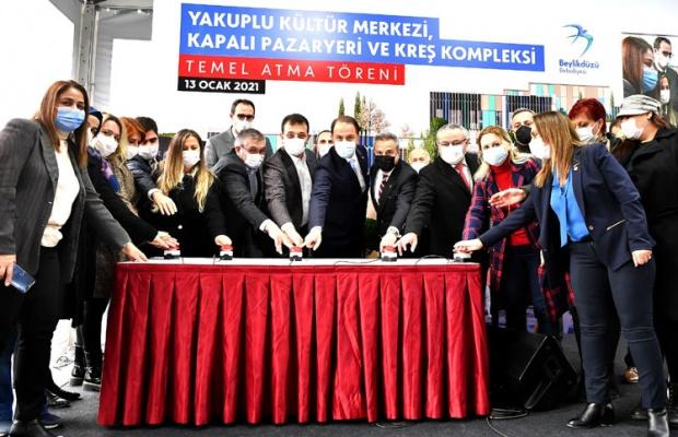 İmamoğlu ve Çalık Kültür Merkezi temeli attı