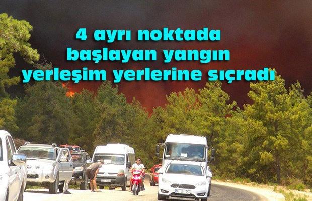 Manavgat'ta yangın: Mahalleler boşaltılıyor!