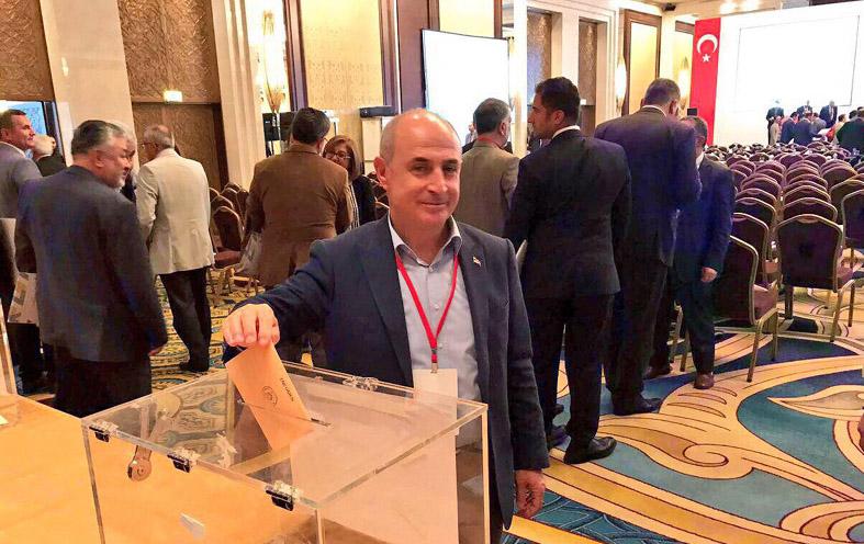 Başkan Akgün yeniden TBB Encümenine seçildi