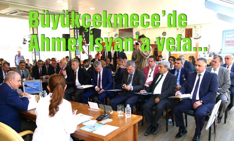 Büyükçekmece Belediye Meclisi'nden Ahmet İsvan'a saygı