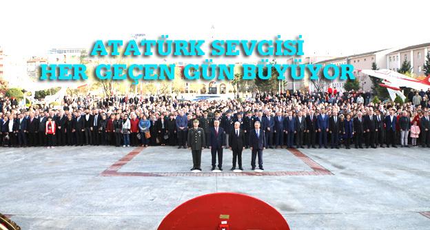 Büyükçekmece'de   Atatürk'ü Anma Törenine yoğun katılım