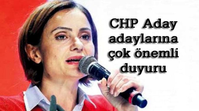 CHP Aday adayları bu kurallara dikkat!
