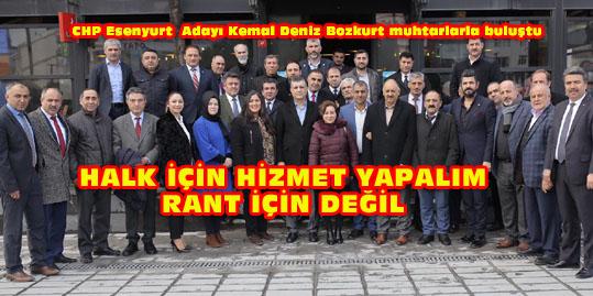 CHP Adayı Kemal Deniz Bozkurt sahaya indi