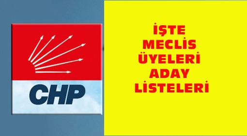 CHP İLÇELERDE KİMLER LİSTELERE GİRDİ