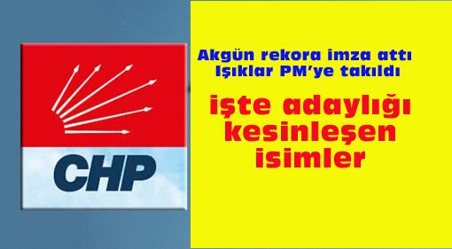CHP'de sancılı gece:  Adaylar netleşti