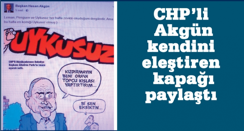 CHP'li Akgün bu kapağı paylaştı!