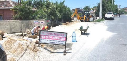 Çatalca Belediyesi sokak ve caddeleri yeniliyor
