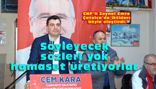 Emre: Ekonomiyi batırdılar, İstanbul'a ihanet ettiler