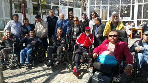 Engelli vatandaşlar Balık Müzesi'nde