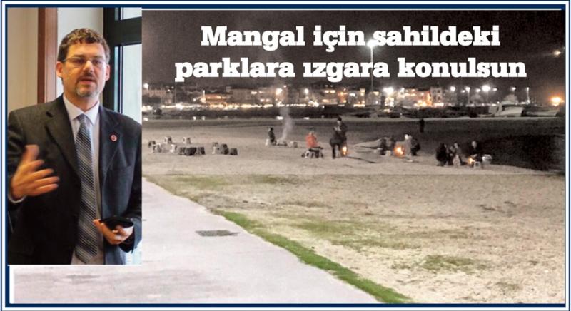 Mangal için sahildeki parklara ızgara konulsun