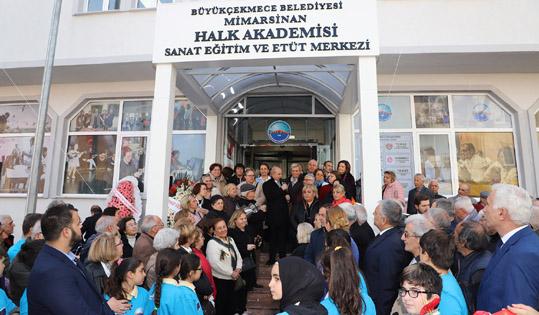 Mimarsinan Halk Akademisi törenle hizmete açıldı