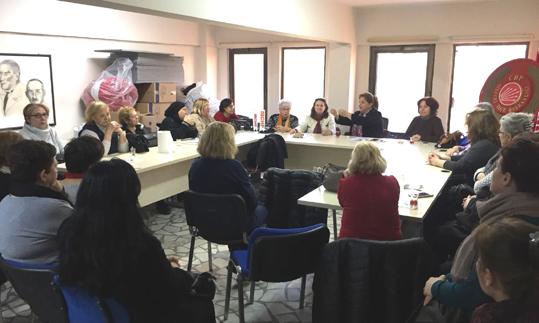 Silivri'de CHP'li kadınlar saha çalışmasına start verdi