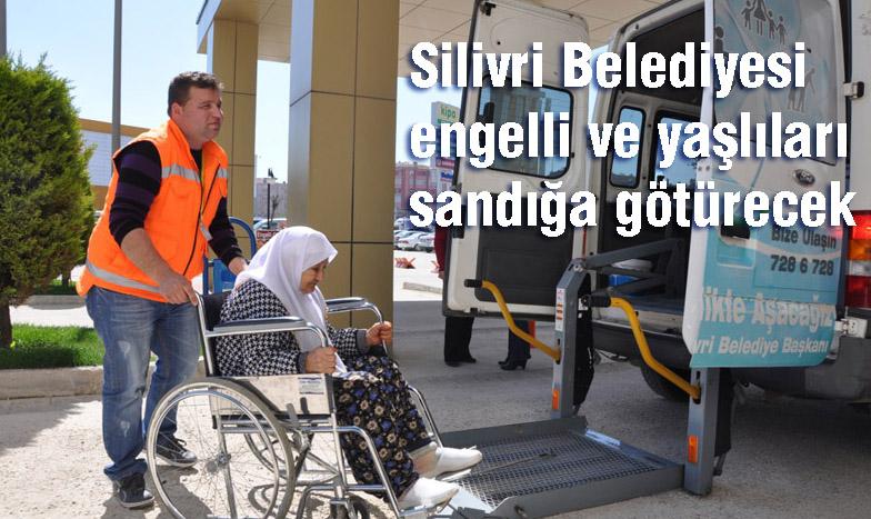 Silivri'de engelli ve yaşlılara seçim hizmeti
